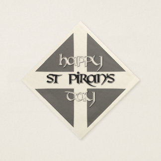St Piran's Day with Cornish Flag Paper Napkins