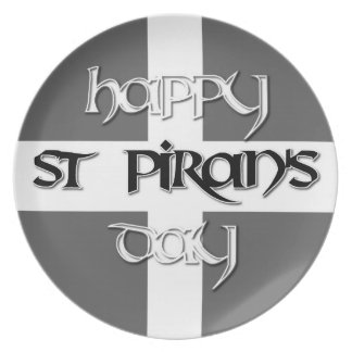 St Piran's Day with Cornish Flag Plate