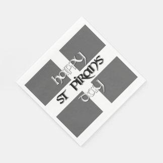 St Piran's Day with Cornish Flag Standard Luncheon Napkin