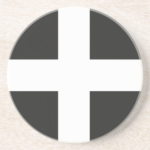 St Piran's Flag Cornwall Kernow Drink Coaster