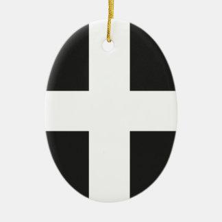 St Piran's Flag Cornwall Kernow Ornaments