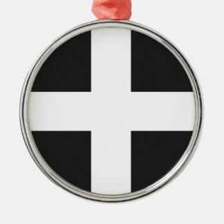 St Piran's Flag Cornwall Kernow Christmas Ornament