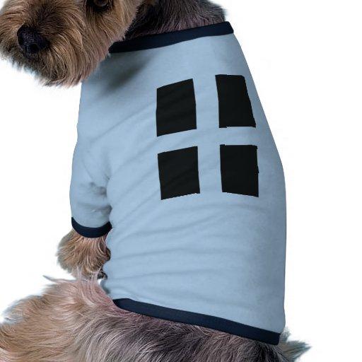 St Piran's Flag Cornwall Kernow Dog T Shirt