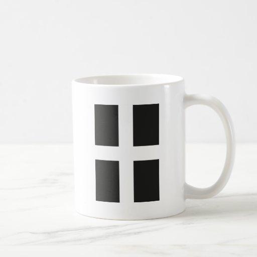 St Piran's Flag Cornwall Kernow Mug