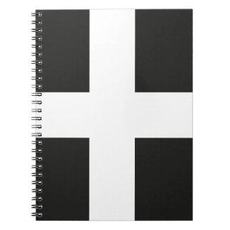 St Piran's Flag Cornwall Kernow Notebooks
