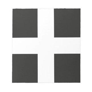 St Piran's Flag Cornwall Kernow Scratch Pads