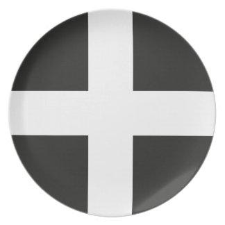 St Piran's Flag Cornwall Kernow Plates