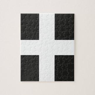 St Piran's Flag Cornwall Kernow Jigsaw Puzzle