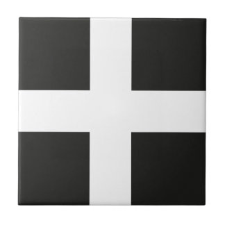 St Piran's Flag Cornwall Kernow Small Square Tile