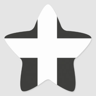 St Piran's Flag Cornwall Kernow Star Sticker