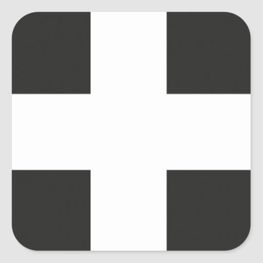 St Piran's Flag Cornwall Kernow Square Stickers