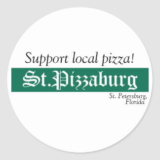 St. Pizzaburg Native Sticker