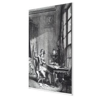 St. Preux Receiving the Portrait of Julie, Canvas Print