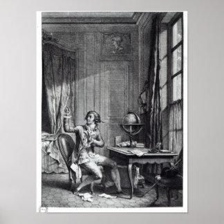 St. Preux Receiving the Portrait of Julie, Poster