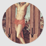 St. Quintinus By Pontormo Jacopo (Best Quality) Round Sticker