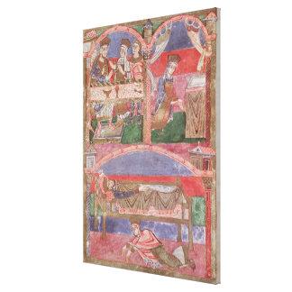 St. Radegund  at the table of Clothar I Canvas Print