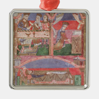 St. Radegund  at the table of Clothar I Christmas Ornament