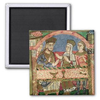 St. Radegund at the table of Clothar I Magnet