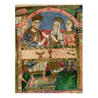 St. Radegund at the table of Clothar I Postcard