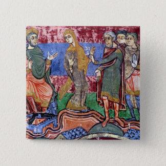St. Radegund led before Clothar I 15 Cm Square Badge