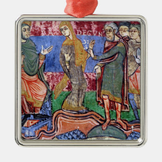 St. Radegund led before Clothar I Christmas Ornament