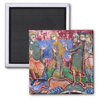 St. Radegund led before Clothar I Magnet