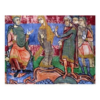St. Radegund led before Clothar I Postcard
