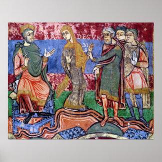 St. Radegund led before Clothar I Poster