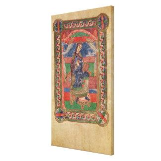 St. Radegund on a throne Canvas Print