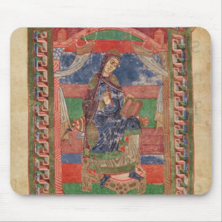 St. Radegund on a throne Mouse Pad
