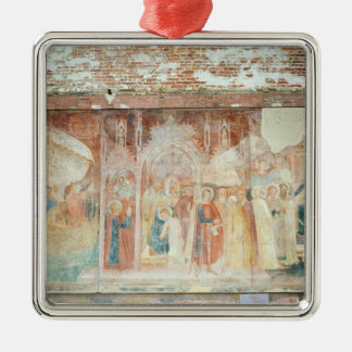 St Ranieri in the Holy Land, mid 14th century Silver-Colored Square Decoration