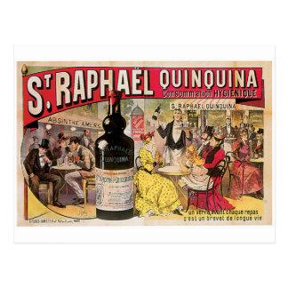 St. Raphael Quinquina Vintage Wine Ad Art Postcard