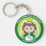 St. Raphael the Archangel Basic Round Button Key Ring