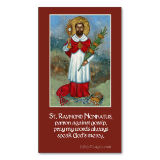 St. Raymond Nonnatus Prayer Magnets (25 pack) Magnetic Business Cards