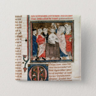 St. Remigius  Bishop of Rheims 15 Cm Square Badge