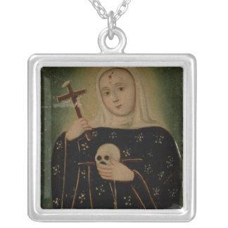 St. Rita de Casia Silver Plated Necklace