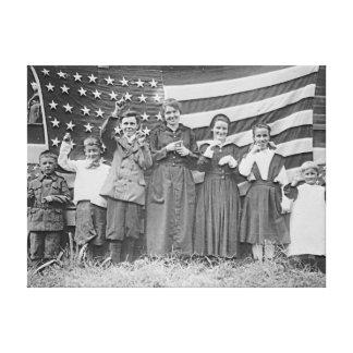 St Rita s School Students Cincinnati 1918 Canvas Print