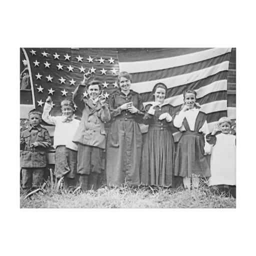 St. Rita's School Students Cincinnati 1918 Canvas Print