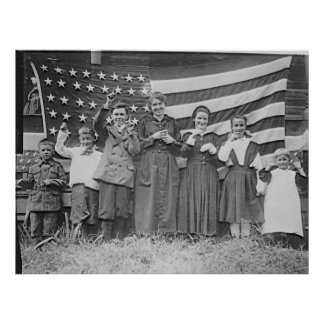 St. Rita's School Students Cincinnati 1918 Print