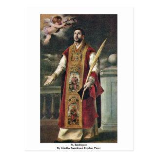 St. Rodriguez By Murillo Bartolomé Esteban Perez Postcard