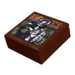 St. Rose of Lima -pray for us-stained glass window Large Square Gift Box