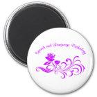 st rose scroll purple magnet