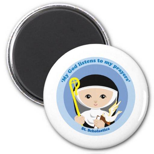 St. Scholastica Fridge Magnet