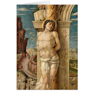 St. Sebastian By Andrea Mantegna Card