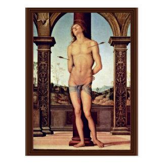 St. Sebastian By Perugino Pietro (Best Quality) Postcard
