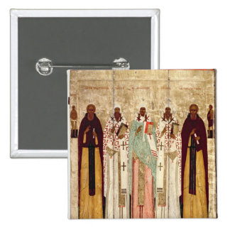 St. Sergius of Radonesh with the Saints of 15 Cm Square Badge