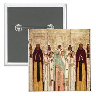 St. Sergius of Radonesh with the Saints of 15 Cm Square Badge