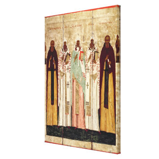 St. Sergius of Radonesh with the Saints of Canvas Print