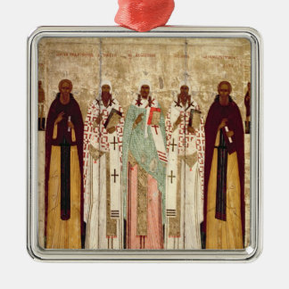 St. Sergius of Radonesh with the Saints of Christmas Ornament