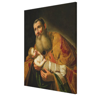 St. Simeon Presenting the Infant Christ Canvas Print